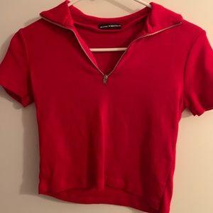 Brandy Melville Red Crop T-shirt